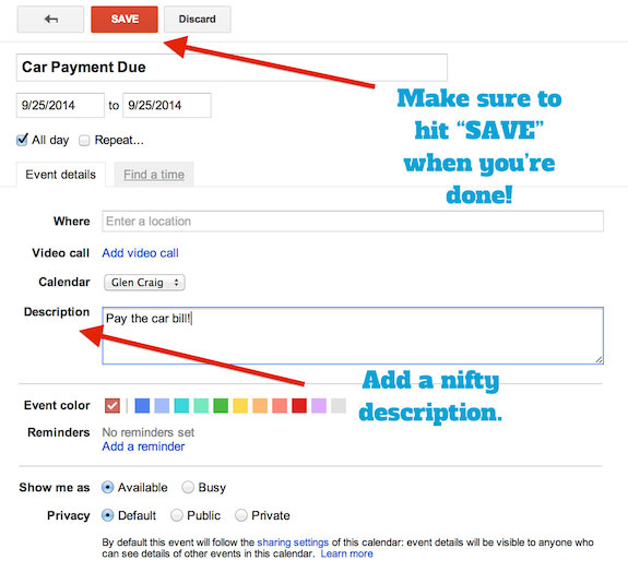 Set Up Google Calendar As A Bill Pay Calendar And Pay Your Bills
