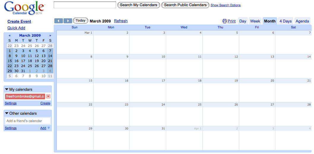 pay bills calendar template - photo #14
