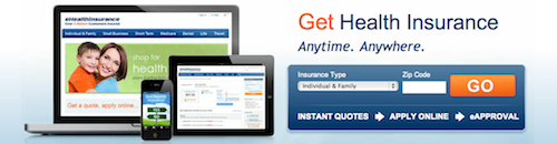 eHealthInsurance Homepage