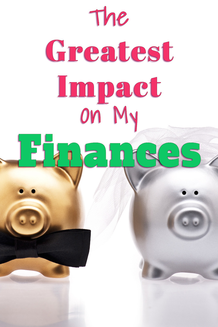 The greatest impact on my finances.