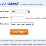 Get started on a loan at Prosper