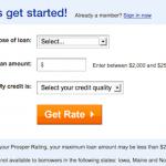 Get started on a loan at Prosper