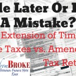 Extension of time to file vs amended return