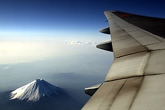 On Plane Over My Fuji