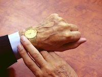 Retirement gold watch