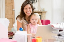 work at home with child