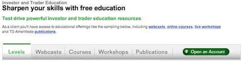TD Ameritrade Free Education