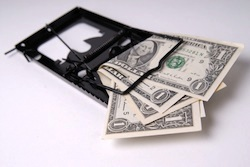 credit cards buried in debt