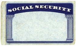 child's social security card