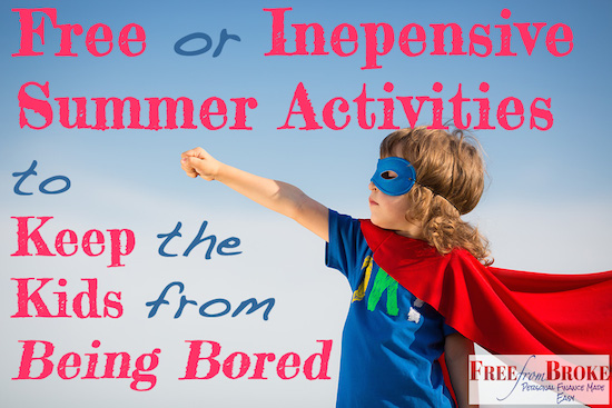 free inexpenive or free summer activities for kids