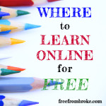 Where to learn online for free.