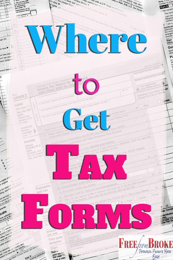 Where can i get irs tax forms and options to file free but that leaves the question where to get tax forms like the 1040 if i need them falaconquin