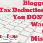 Blogging tax deductions