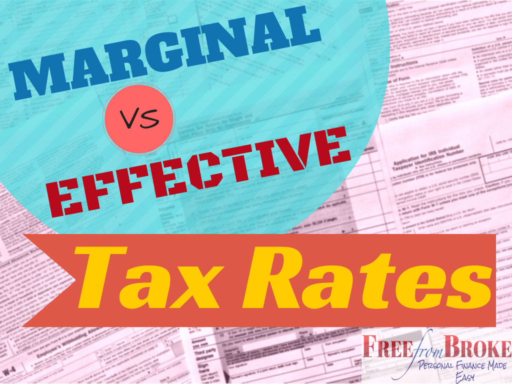 Marginal versus effective tax rates.