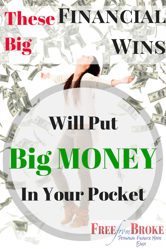 these big financial wins put money in your pocket