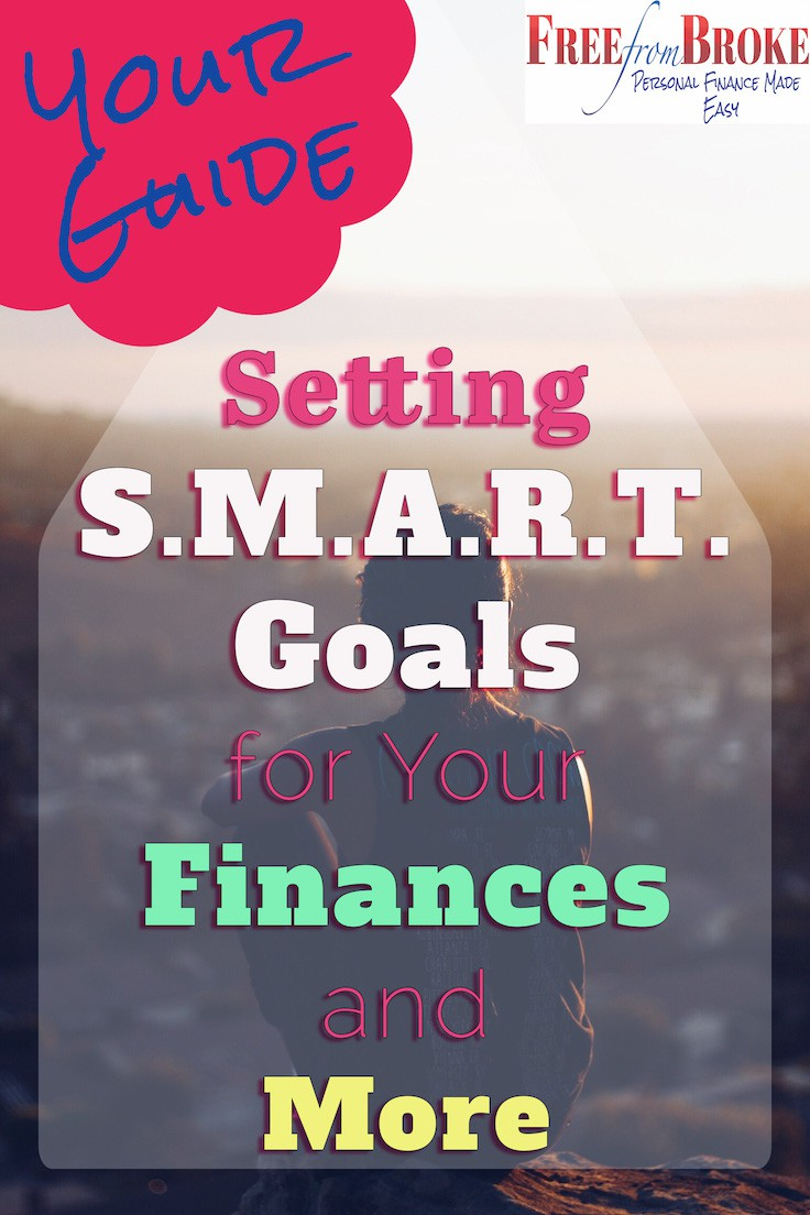 Setting SMART goals for your finances.